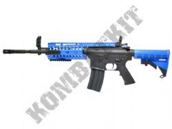 ZM81A M4 RIS Electric Airsoft Machine Gun Black and Blue